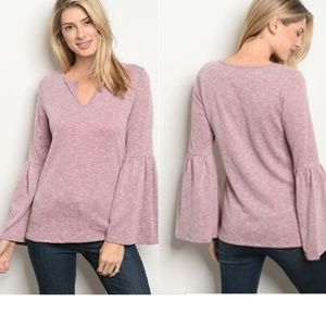 Tops - COMING SOON! Sweet Bell Sleeve V Neck Top